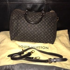 Louis Vuitton Mini Lin Canvas Speedy 30 Ebene